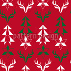 Christmas Signs Seamless Vector Pattern Design