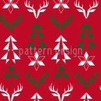 Weihnachts Zeichen Nahtloses Vektor Muster