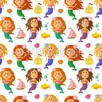 Kleine Meerjungfrauen Rapportiertes Design