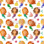 Little Mermaids Repeating Pattern
