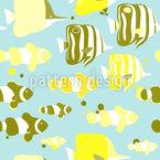 Niedliche Tropische Fische Nahtloses Vektormuster