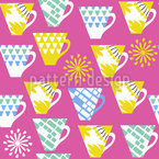 Cute Cups Pattern Design