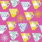 Niedliche Tassen Musterdesign