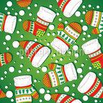 Weihnachtliche Strickwaren Nahtloses Vektormuster