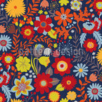 Floral Medley Seamless Vector Pattern Design