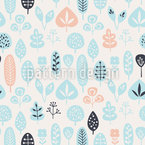 Cute Leaves Vector Pattern
