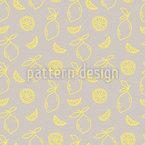 Zitronen Spaß Nahtloses Vektormuster