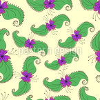 Blossoms And Leaves Pattern Design
