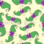 Blüten Und Blätter Nahtloses Vektormuster