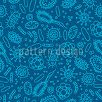 Bacterial World Seamless Vector Pattern