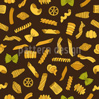 Pasta Italiana Estampado Vectorial Sin Costura