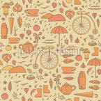 Rainy Autumn Vector Ornament