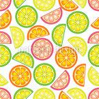 Leckere Zitrusfrüchte Nahtloses Vektormuster