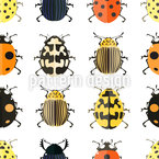 Bugs Run Seamless Vector Pattern Design
