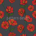 Hello Poppies Seamless Vector Pattern Design