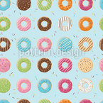 Doughnut Variations Seamless Vector Pattern Design