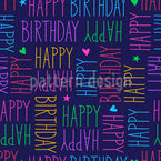 Birthday Greetings Vector Ornament