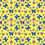 Gemalte Schmetterlinge Nahtloses Vektor Muster