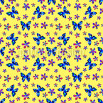 Painted Butterflies Seamless Vector Pattern