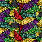 Grafische Blätter Nahtloses Vektormuster