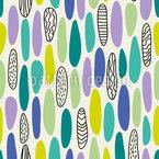 Run-In Eggs Seamless Vector Pattern Design