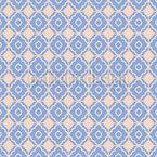 Mosaik Aus Blüten Nahtloses Vektormuster