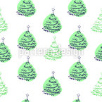 Under the Christmas Tree Seamless Vector Pattern Design
