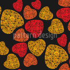 Girly Hearts Seamless Vector Pattern Design