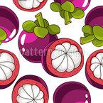 Mangostan Frucht Vektor Ornament
