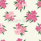 Beautiful Lilies Seamless Vector Pattern