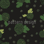Field Flowers At Night Vector Pattern