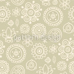 Fading Flowers Seamless Vector Pattern Design