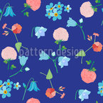 Summer Meadow Impressions Seamless Vector Pattern Design