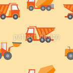 Construction Machine Seamless Pattern