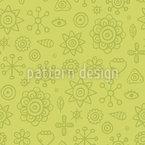 Scrapbook Flora Vector Pattern