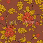 Bouquet Mocca Repeating Pattern