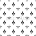 French Fleur-de-Lis Seamless Vector Pattern Design