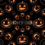 Gruselige Halloween Kürbisse Nahtloses Vektormuster