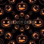 Scary Halloween Pumpkins Pattern Design
