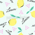 Hipster Lemons Seamless Vector Pattern Design