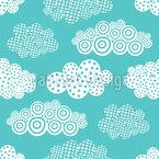 Dekorative Wolken Nahtloses Muster