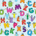 Lustige Buchstaben Nahtloses Vektormuster