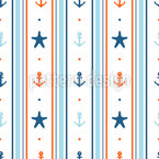 Sailors Cabin Seamless Vector Pattern Design