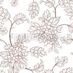 Bouquet Outlines Seamless Vector Pattern Design
