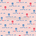 Hill Flowers Repeat Pattern