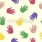 Impressão de mão Design de padrão vetorial sem costura