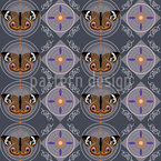 Peacock Butterflies Seamless Vector Pattern Design