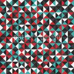 Funky Dreiecke Nahtloses Vektormuster