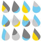 Der Regen Nahtloses Vektormuster