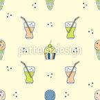 Summer Food Pattern Design